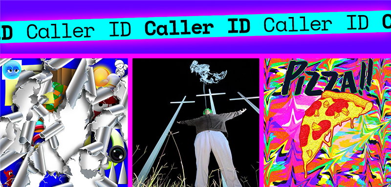 Caller ID graphic showing the album covers
