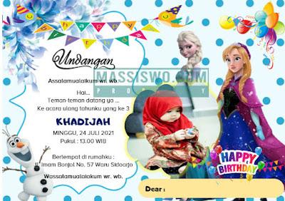 desain undangan ulang tahun remaja