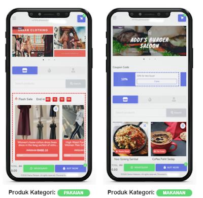 Web E-commerce Pakaian dan Makanan
