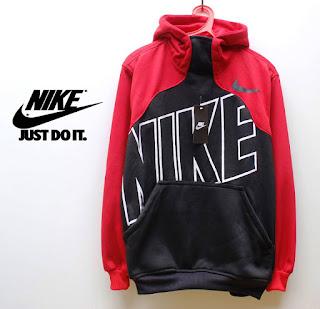 Distro Online Sweater Nike Merah Hitam Code 04