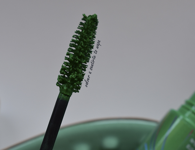 Máscara de Pestañas de color verde eléctrico de Mercadona