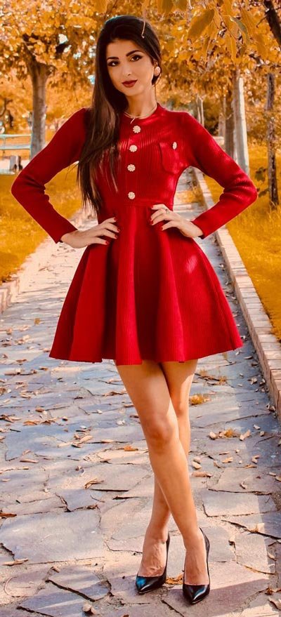 Find sexy valentines day clothes and valentines day fashion. 31+ Cute Valentines Day Outfits for Every Type of Date. Ribbed knit dressin red | Valentine style via higiggle.com #valentine #fashion #outfits #love