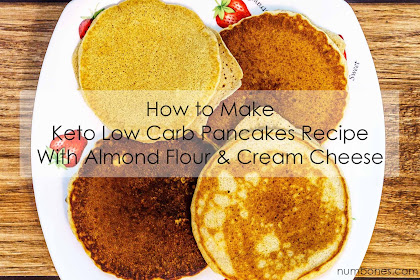 How to Make Keto Low Carb Pancakes Recipe With Almond Flour & Cream Cheese