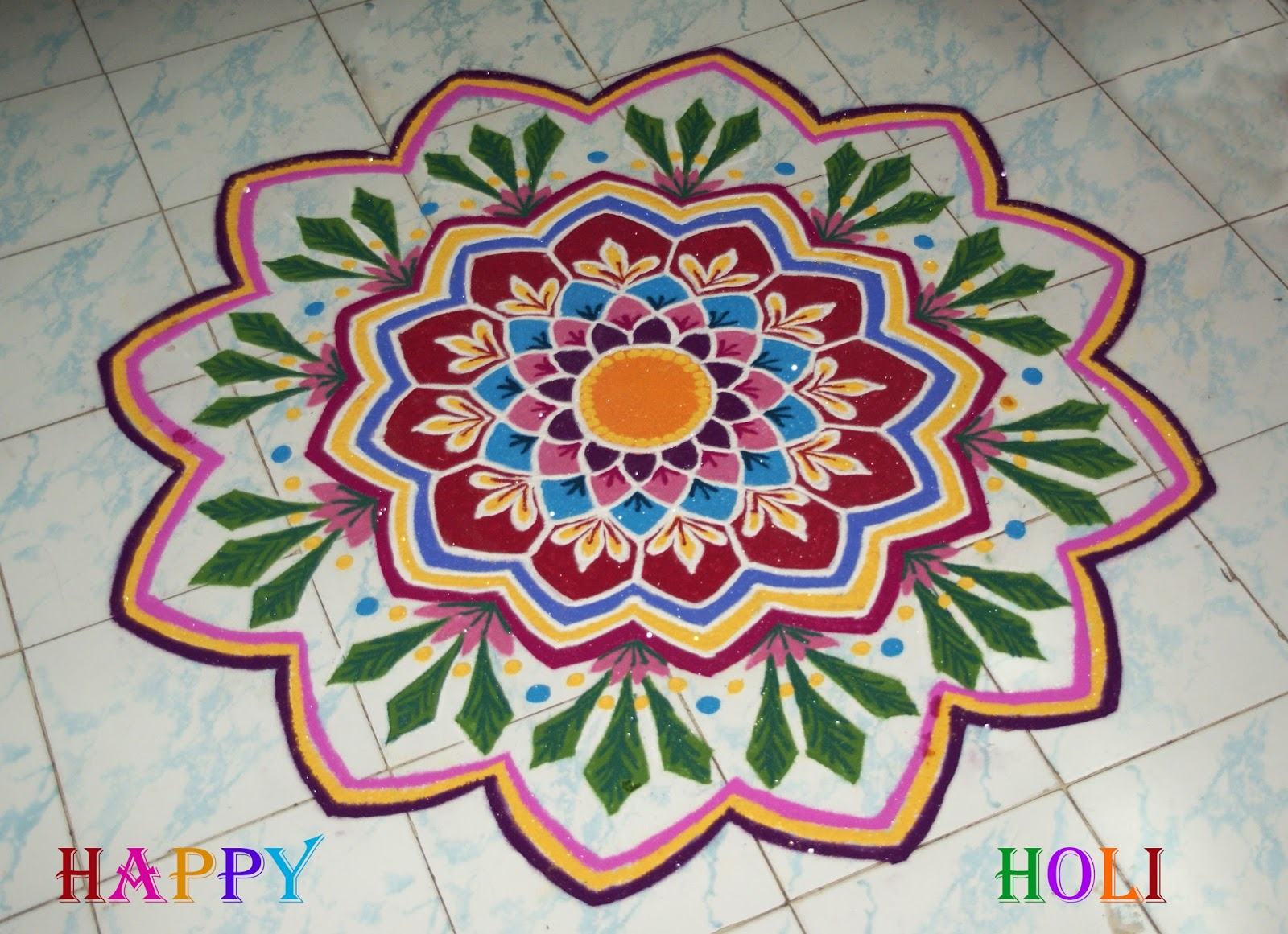 Latest Holi Rangoli Images