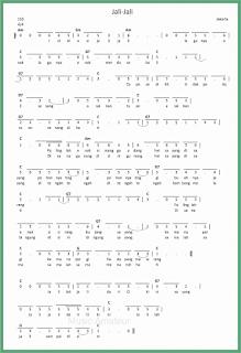not angka lagu jali jali lagu daerah jakarta