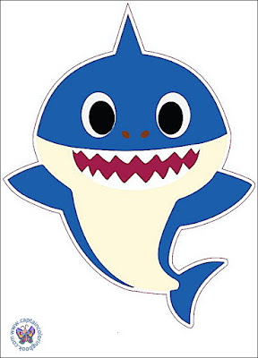 Baby shark characters Stock