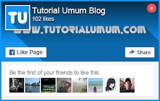 Cara Menambahkan Pop Up Like Box Facebook