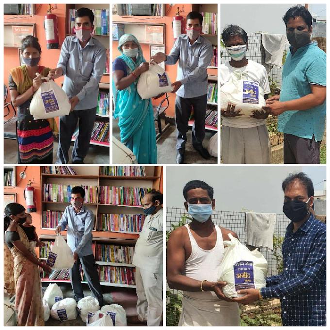 कल्याणपुर में जरूरतमंदों को वितरित किया राशन किट
