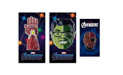 San Diego Comic-Con 2019 Exclusive Avengers: Endgame Portrait Enamel Pin Series by Tom Whalen x Mondo