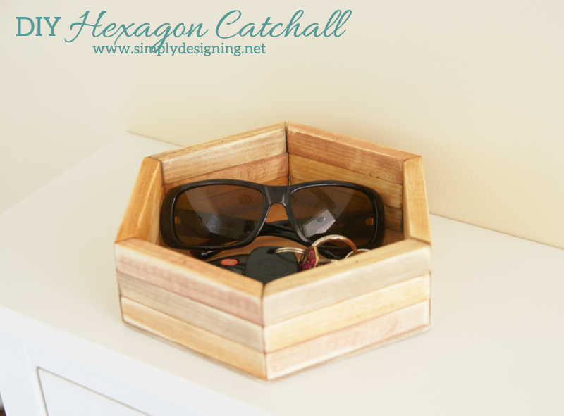 DIY Hexagon Catchall | click the photo to see how to create this really cool layered hexagon catchall | #diy #homedeor #crafts #spon #farmsmatter #hexagon
