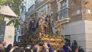 Nuestro Padre Jesús de los Afligidos por la Plaza de las Flores en la Semana Santa Cádiz 2019