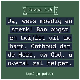 Leef je geloof, Hillie Snoeijer, Wees sterk en moedig, Jozua 1:9