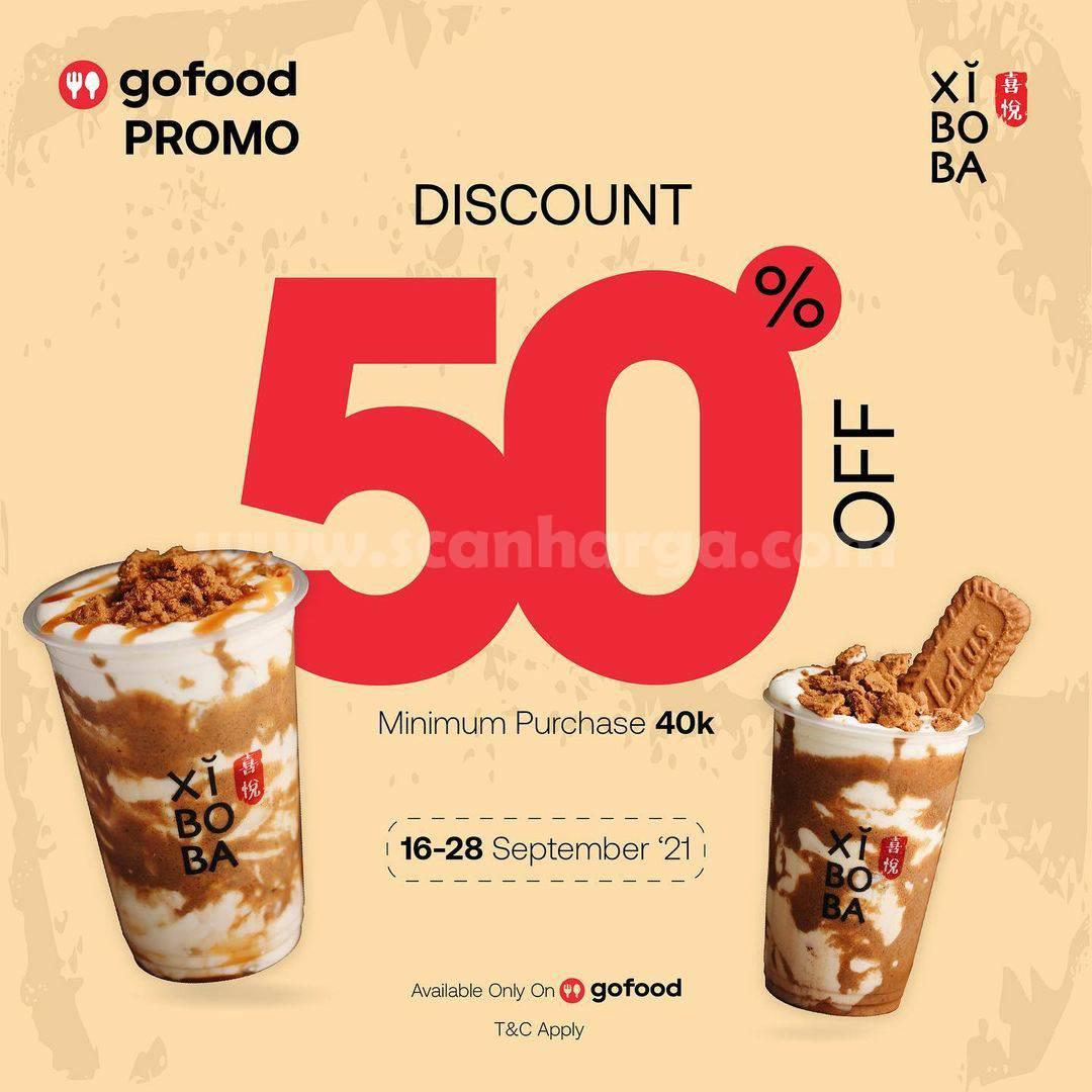 XIBOBA Promo DISKON 50% khusus pemesanan via GOFOOD