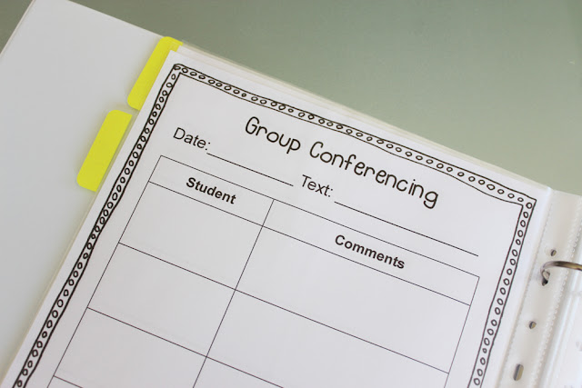 My guided reading binder - organising my guided reading groups   reading group organisation   reading groups tub   work with the teacher   free printables  