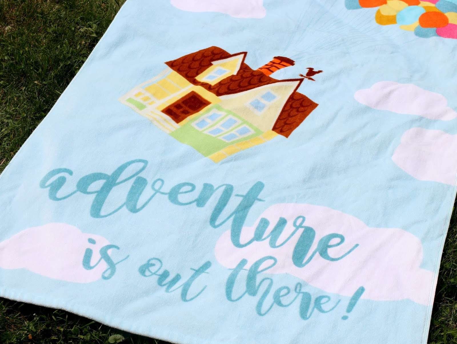 pixar up disney beach towel