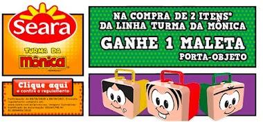 Compre 2 itens da linha Turma da Mônica Seara e ganhe 1 (uma) Maleta Porta-Objetos