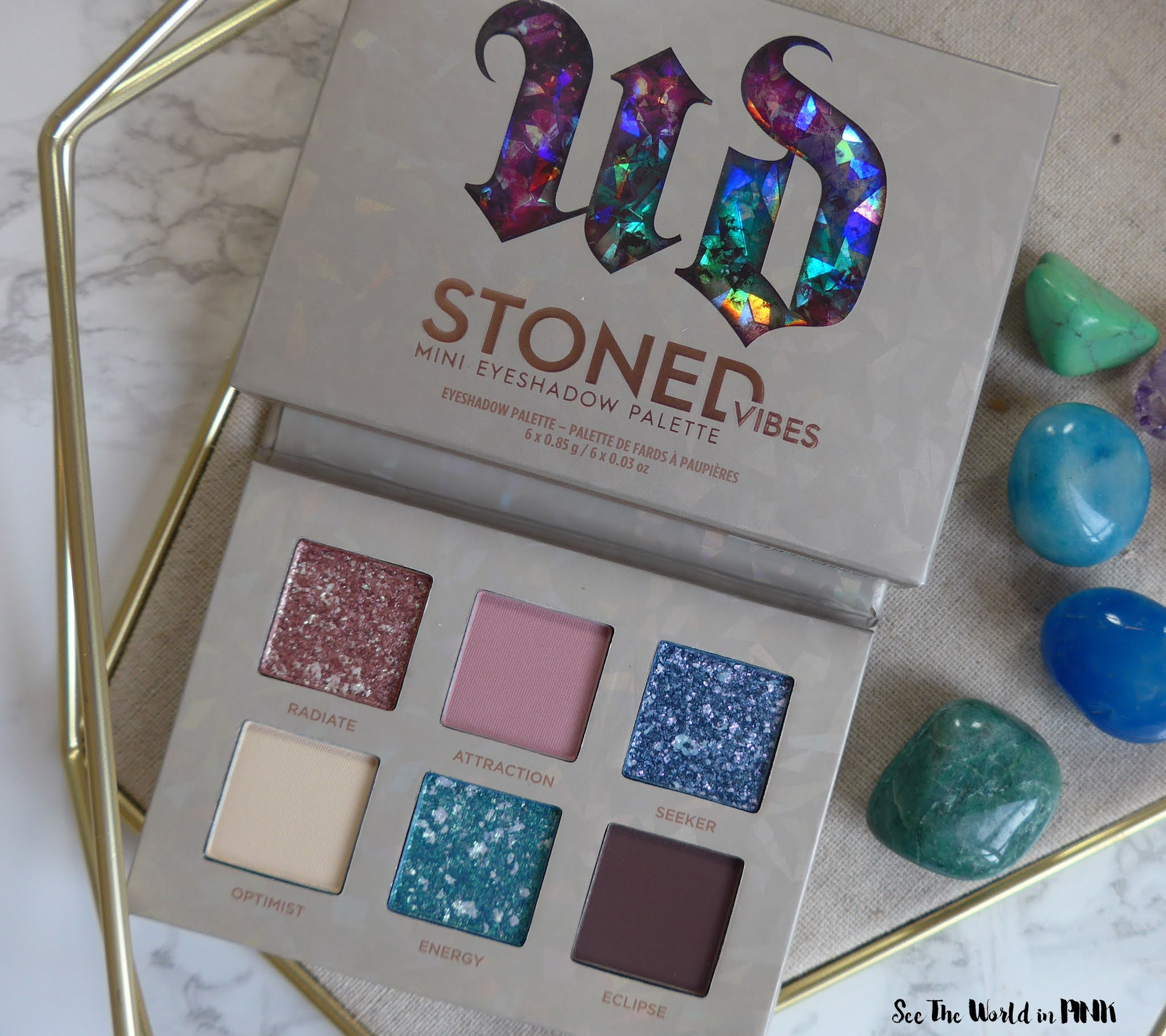 Urban Decay Stoned Vibes Mini Eyeshadow Palette - Swatches, Look and Thoughts