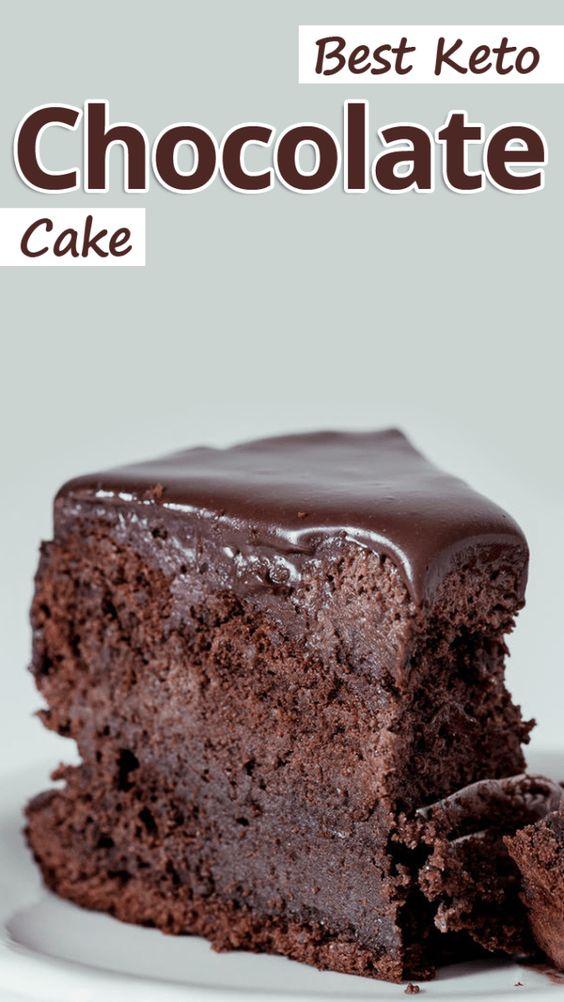 Best Keto Chocolate Cake #KETO #DESSERT #CAKE