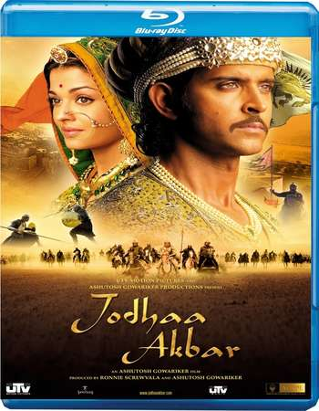 Poster Of Jodhaa Akbar 2008 Hindi 450MB BRRip 480p Free Download Watch Online