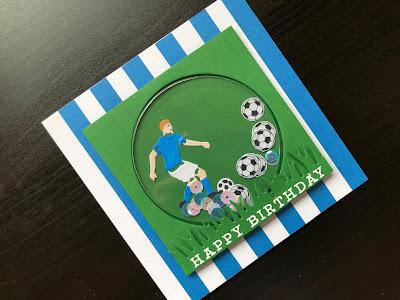 Hand made football shaker card