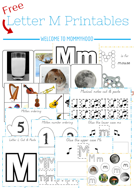 Tot Labs presents hands on letter activities for toddlers and preschoolers: FREE letter Mm printables by Welcome to Mommyhood, #preschoolactivities, #montessoriactivities, #montessori, #handsonlearning, #letteroftheweek, #lotw, #freeprintables
