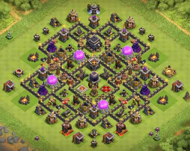 Base COC TH9 Farming 31