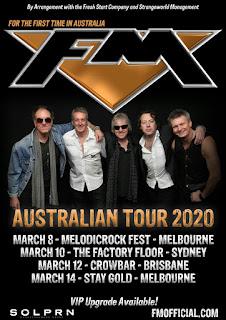 FM - Australian Tour 2020 - poster