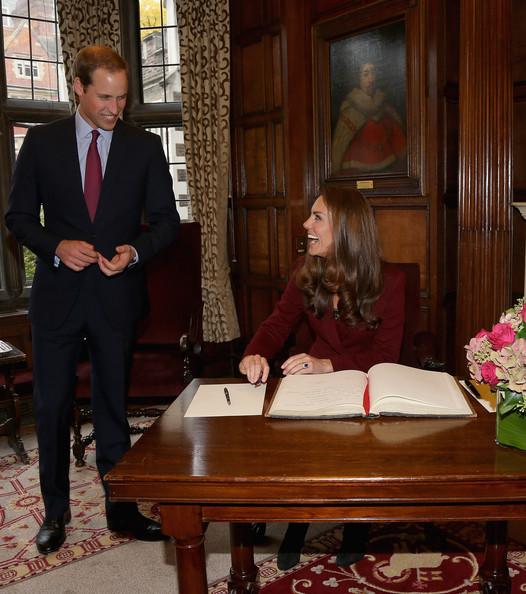 Prince William and Duchess of Cambridge met recipients of the Queen Mother Scholarship, Princess Diana