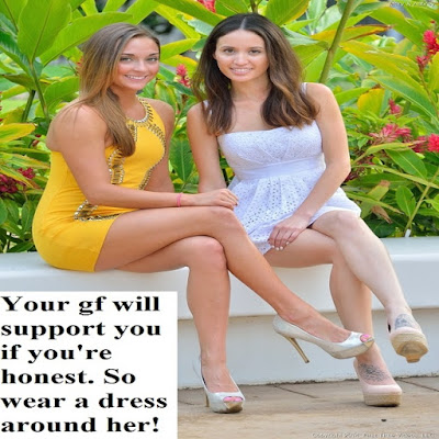 Girlfriend Support Sissy TG Caption - Candi's Place TG Captions - Crossdressing and Sissy Tales and Captioned images