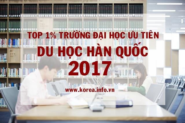Top 1% trường đại học ưu tiên du học Hàn Quốc 2017