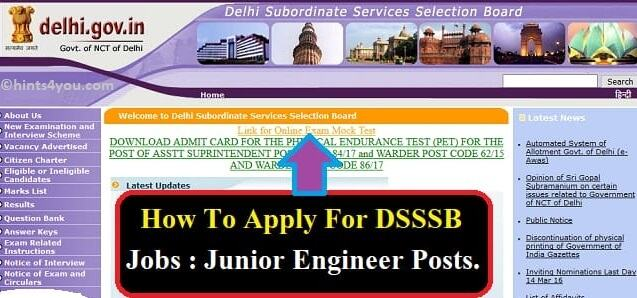 How To Apply For DSSSB Jobs: