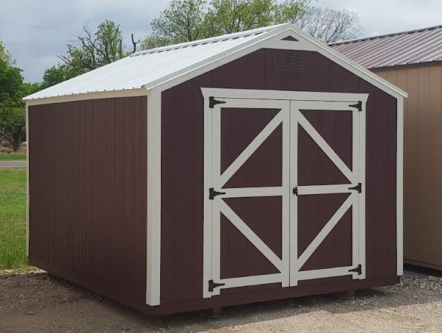 Eye Catching Colors!! 10x12 Economy Utility, Nice Backyard Storage Shed.