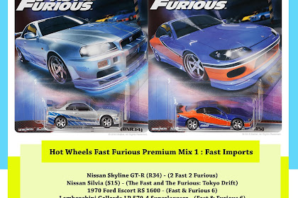 Hot Wheels Premium Fast Furious 2019 Mix 1 : Fast Imports
