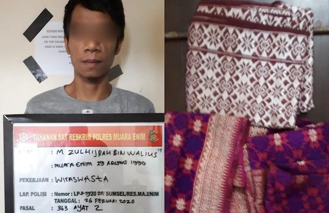 Bobol Rumah Warga, Pencuri Ini Hanya Ambil Kain Songket Palembang