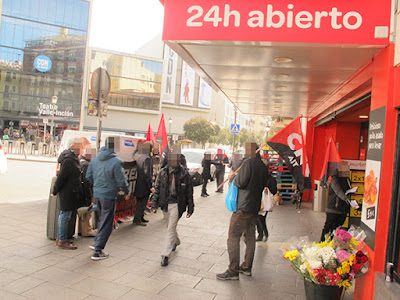 Foto: CNT-IAA Madrid: Protest bei Carrefour