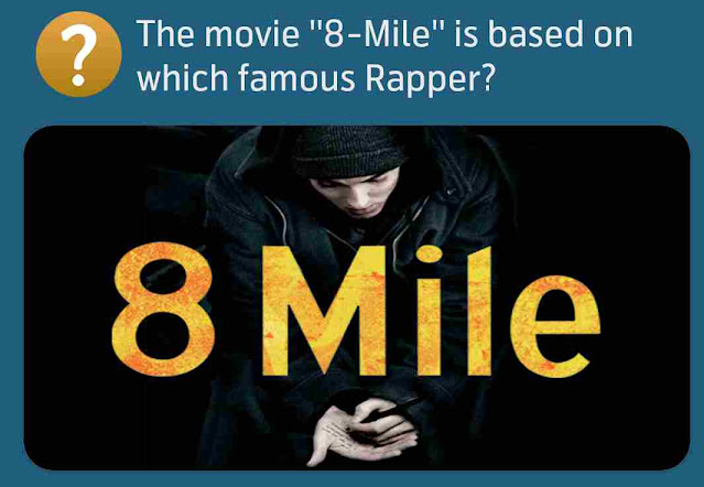 The movie ''8-Mile'' is based on which famous Rapper?