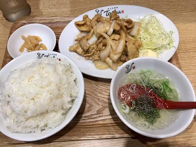 生姜焼き定食(肉Wご飯大盛り)