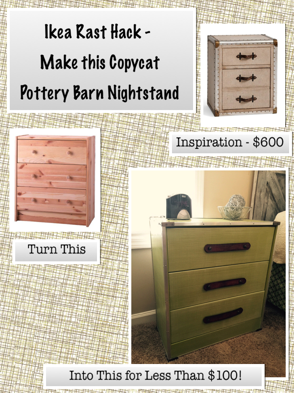 Pottery Barn Inspired Dresser Ikea Rast Hack Boxes Pottery