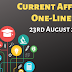 Current Affairs One-Liner: 23rd August 2019