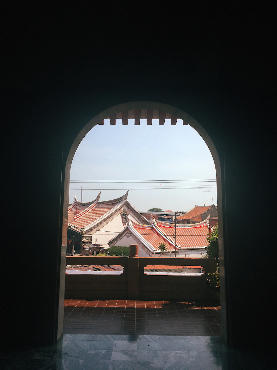 A dreamy window in Cheng Hoon Temple Malacca Malaysia