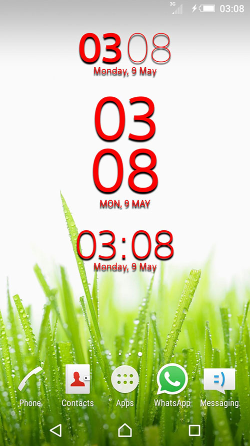 Colored Xperia Clock Widget