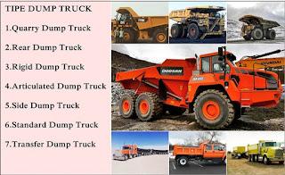 Definisi Dump Truck Dan jenis-jenis dump Truck