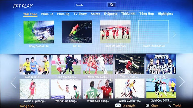 FPT Play trên Smart tivi Samsung