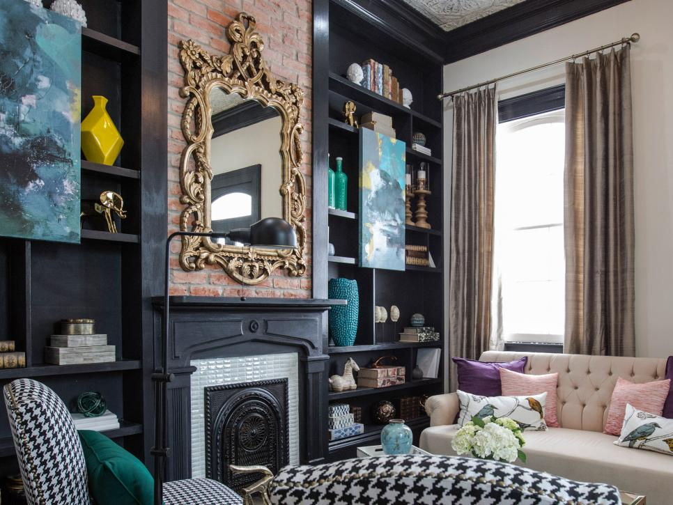 Property Brothers New Orleans pictures of renovated living room