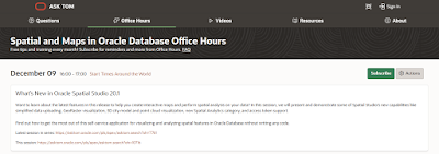 Spatial and Maps in Oracle Database Office Hours