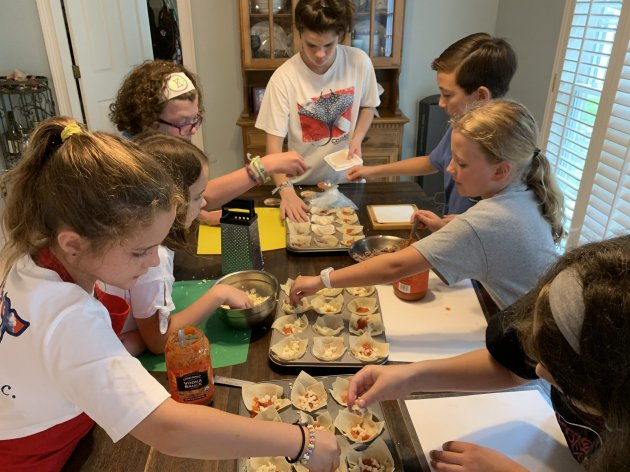 Sofia Renals's summer cooking camp in 2019.Courtesy subject