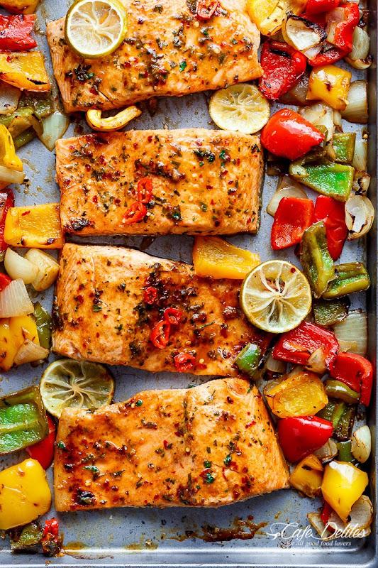 Sheet Pan Chili Lime Salmon #Recipe