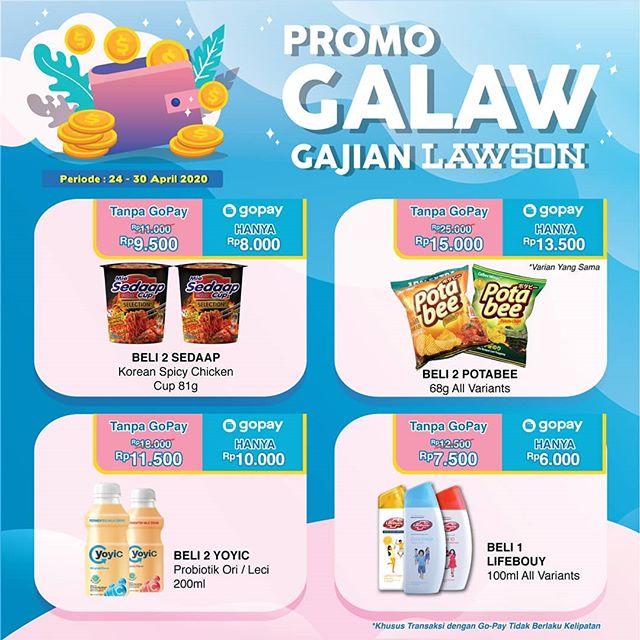 #Lawson - #Promo GAjian LAwson Pakai GOPAY Periode 24 - 30 April 2020