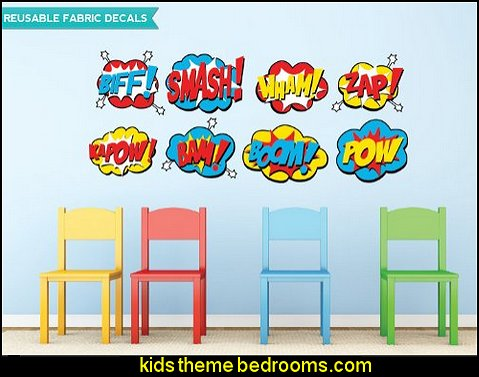 Superhero Fabric Wall Decals maries manor theme bedrooms superhero theme