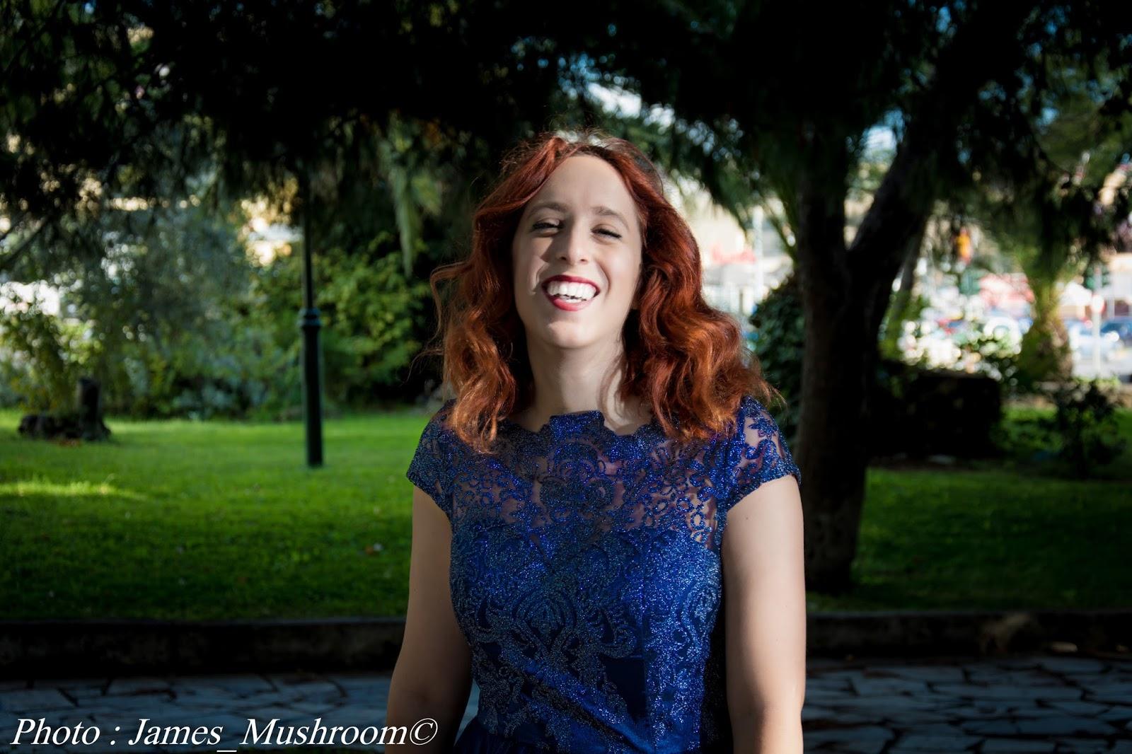 spotlights on the redhead, redhead, model, blogger, review, pretty, anna keni, anna, hot,sexy, chichi London,review occasion dress, navy, blue, lace,midi, white, laser-cut, ashley bridget,james mushroom